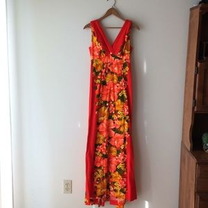 Vintage Hawaiian Maxi Dress